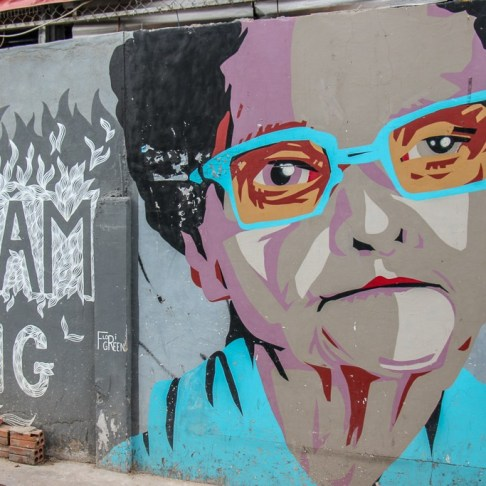 Dream Big street art on Street 93 in Phnom Penh, Cambodia