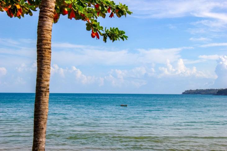 Boat on water at Kamala Beach on Phuket, Thailand