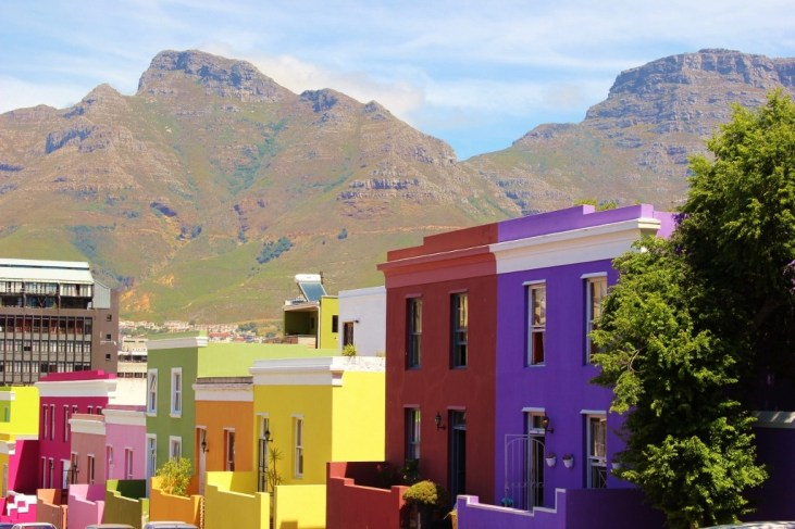Colorful houses in Bo-Kaap district in Cape Town, South Africa
