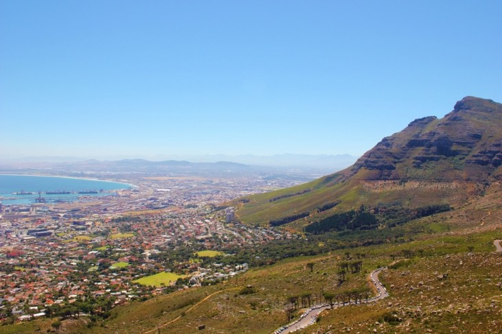 Devil's Peak at Table Mountain in Cape Town, South Africa