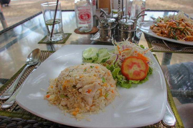 Lunch of chicken fried rice at Lillo Island Restaurant at Kamala Beach on Phuket, Thailand