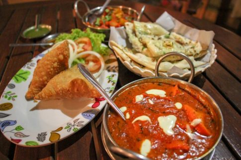 Indian food dinner from Royal India at Kamala Beach on Phuket, Thailand