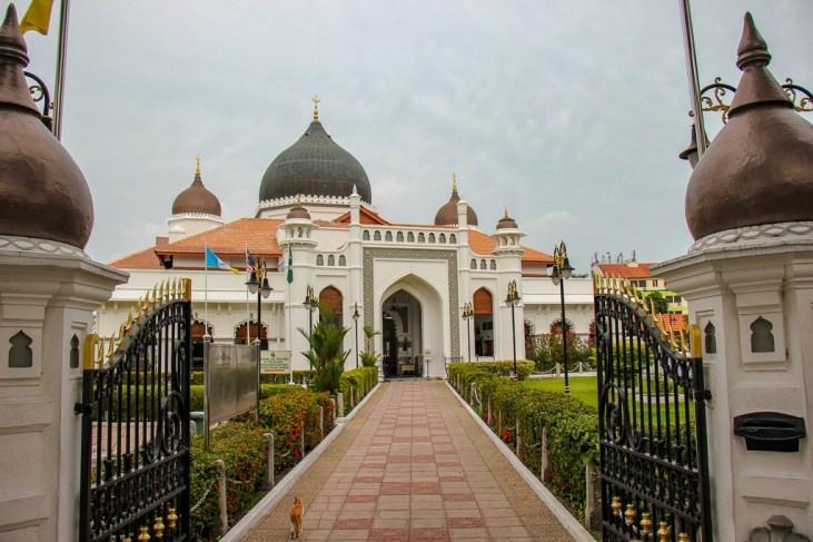 Entrance to Kapitan Keling Mosque in Geroge Town, Penang, Malaysia
