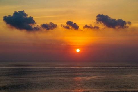 Gorgeous sunset at Sunset Point in Uluwatu, Bali, Indonesia