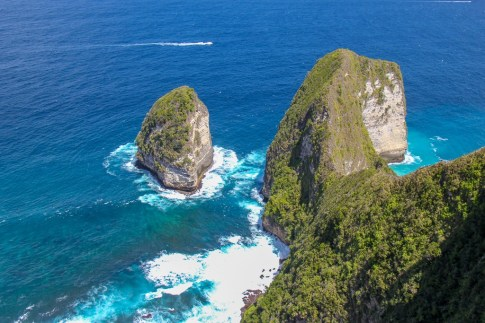 Bukit Kelingking viewpoint on Nusa Penida, Bali, Indonesia