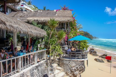 Kelly's Warung at Bingin Beach in Uluwatu, Bali, Indonesia