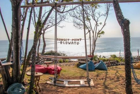 Bali swing at Sunset Point in Uluwatu, Bali, Indonesia