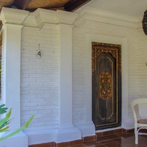Door to a room at Sanur House in Sanur, Bali, Indonesia