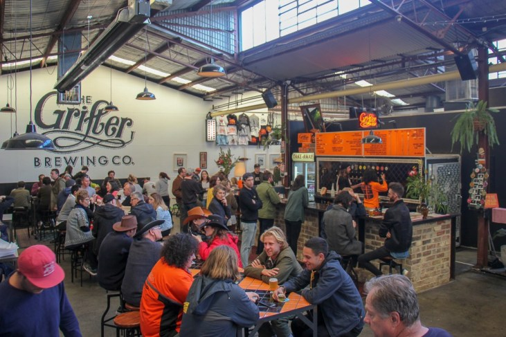 Taproom at Grifter Brewery in Marrickville, Sydney, Australia