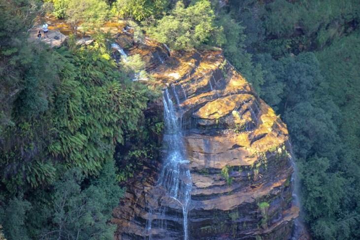 Streaming Bridal Veil Falls at Blue Mountains National Park in Sydney, Australia