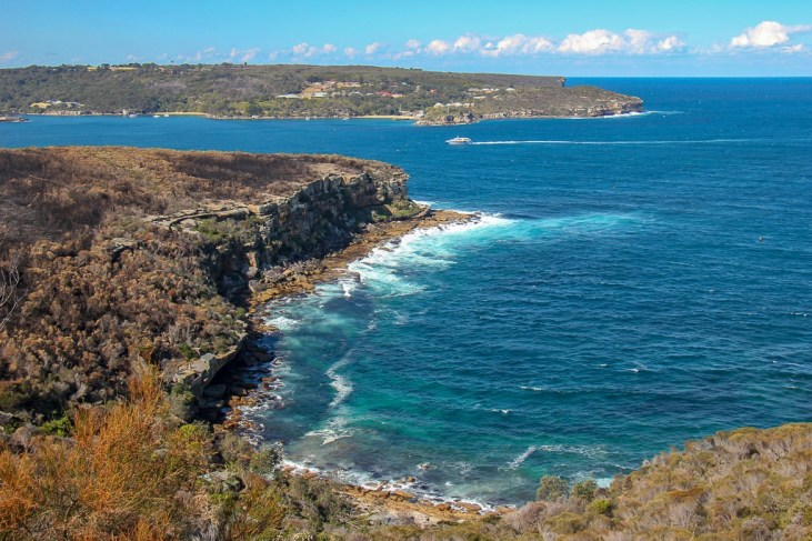 Crater Cove cliff views in Sydney, Australia