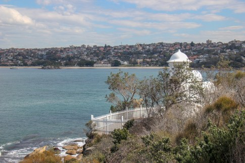 Grotto Point Lighthouse on trail from Manly to Spit Bridge in Sydney, Australia