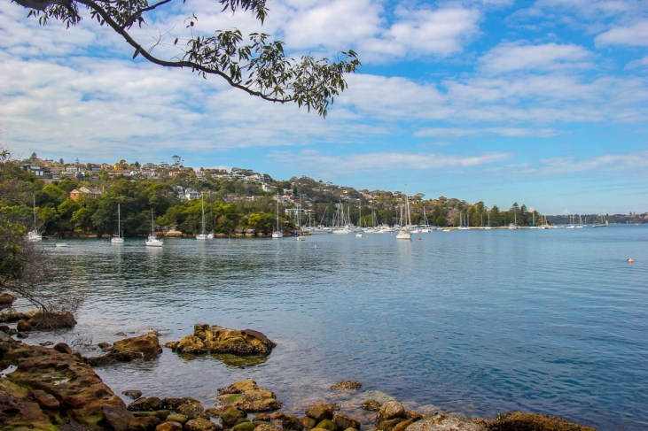 Bay view on coastal walk between Spit Bridge and Manly in Sydney, Australia