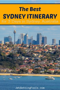 The Best Sydney Itinerary for 3 Days in Sydney by JetSettingFools.com