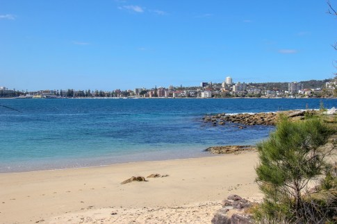 Sandy beach on route from Manly to Spit in Sydney, Australia