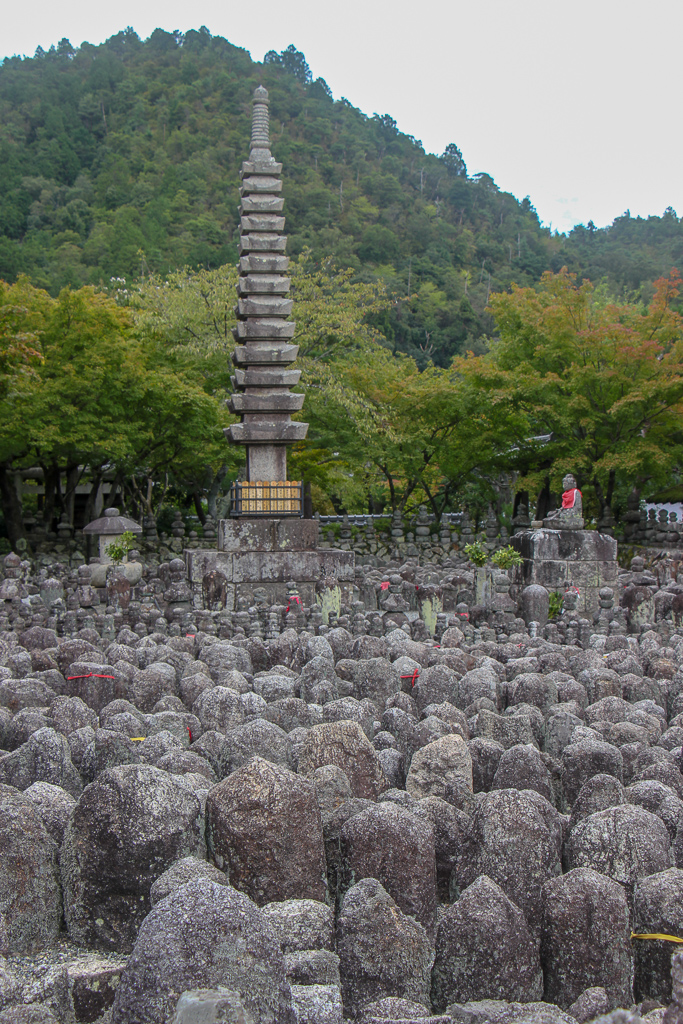 Thousands of statues to commemorate lost souls at Adashino Nenbutsuji Temple in Kyoto, Japan