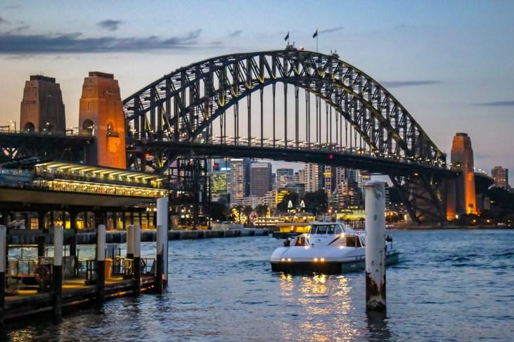 Sunset at the Harbour Bridge Sydney Australia