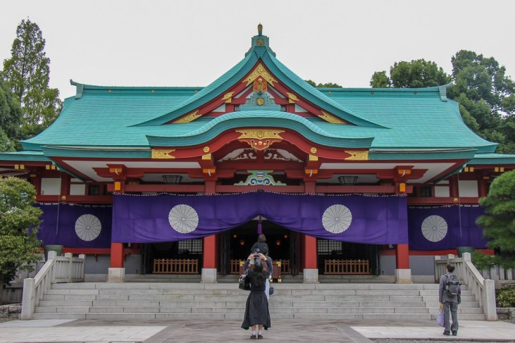 Colorful Hie Shrine in Tokyo, Japan