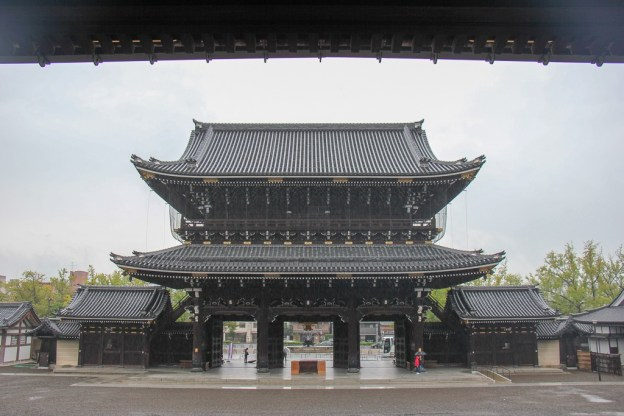 Entrance Gate to Higashi Honganji Temple in Kyoto, Japan