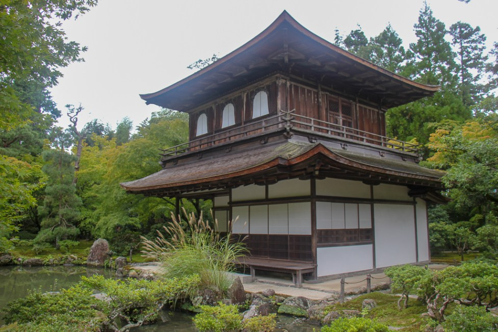 The Silver Pavilion at Ginkakuji Temple in Kyoto, Japan