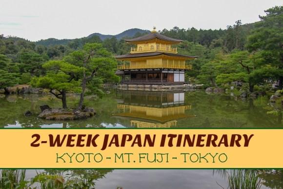 Japan Itinerary Kyoto Mt Fuji Tokyo by JetSettingFools.com