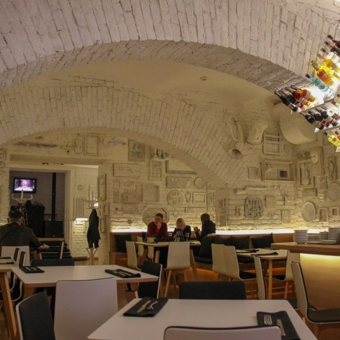 Opera Underground Left Bank restaurant in Lviv, Ukraine