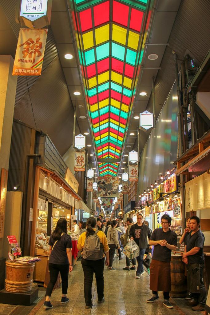 Nishiki Market Hall in Kyoto, Japan