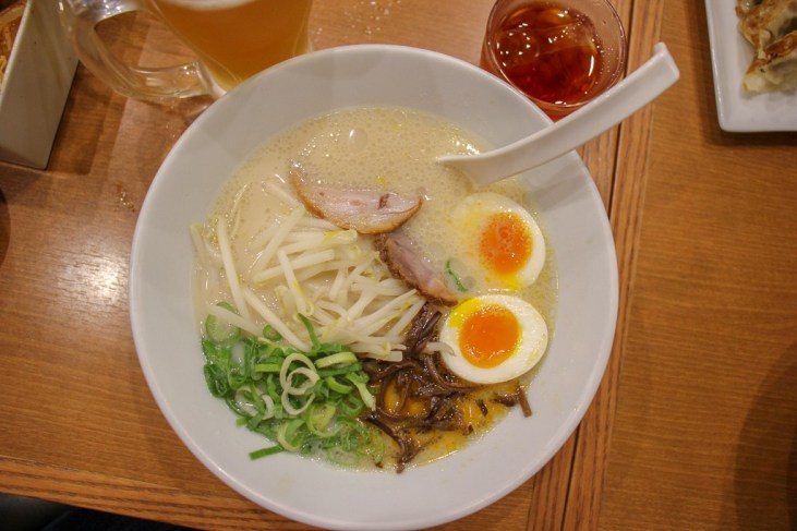 Bowl of ramen at Ippudo Roppongi in Tokyo, Japan