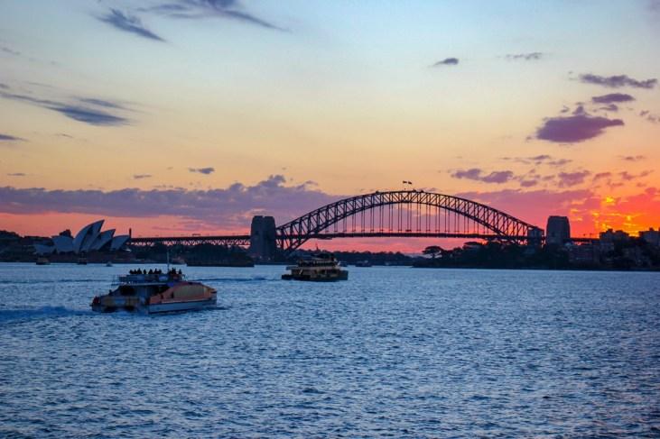 Sydney Harbour at Sunset, Australia
