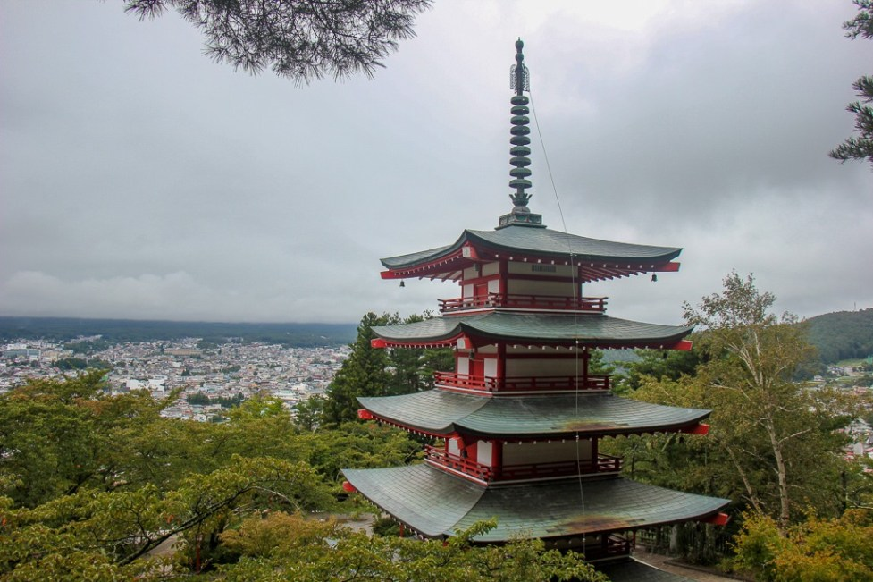 Chureito Pagoda viewpoint in Kawaguchiko, Japan