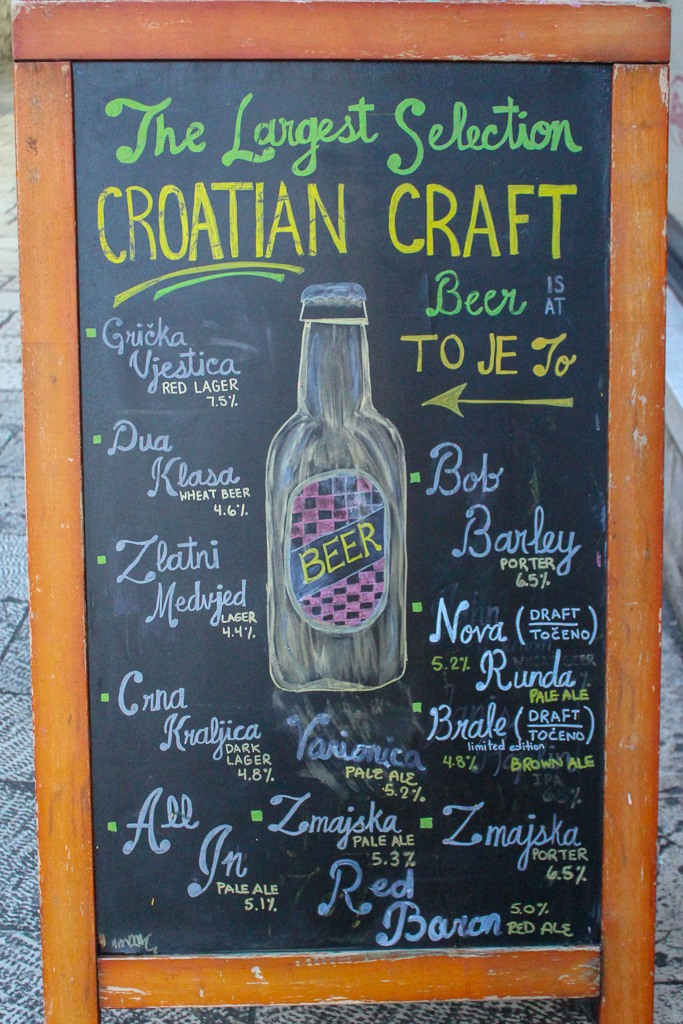 Croatian Craft Beer sign at To Je To in Split, Croatia