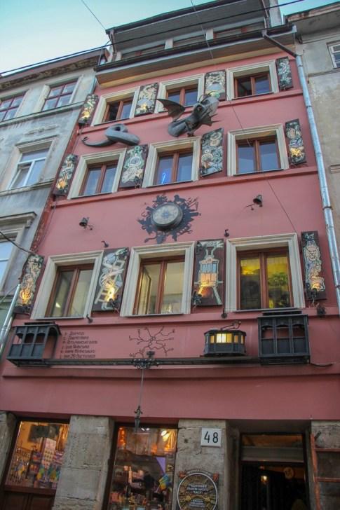Mythical House of Legends in Lviv, Ukraine