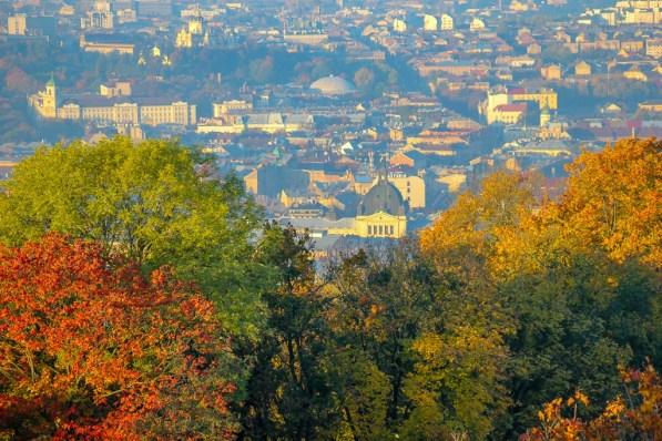 Lviv Opera House From Park High Castle, Lviv, Ukraine