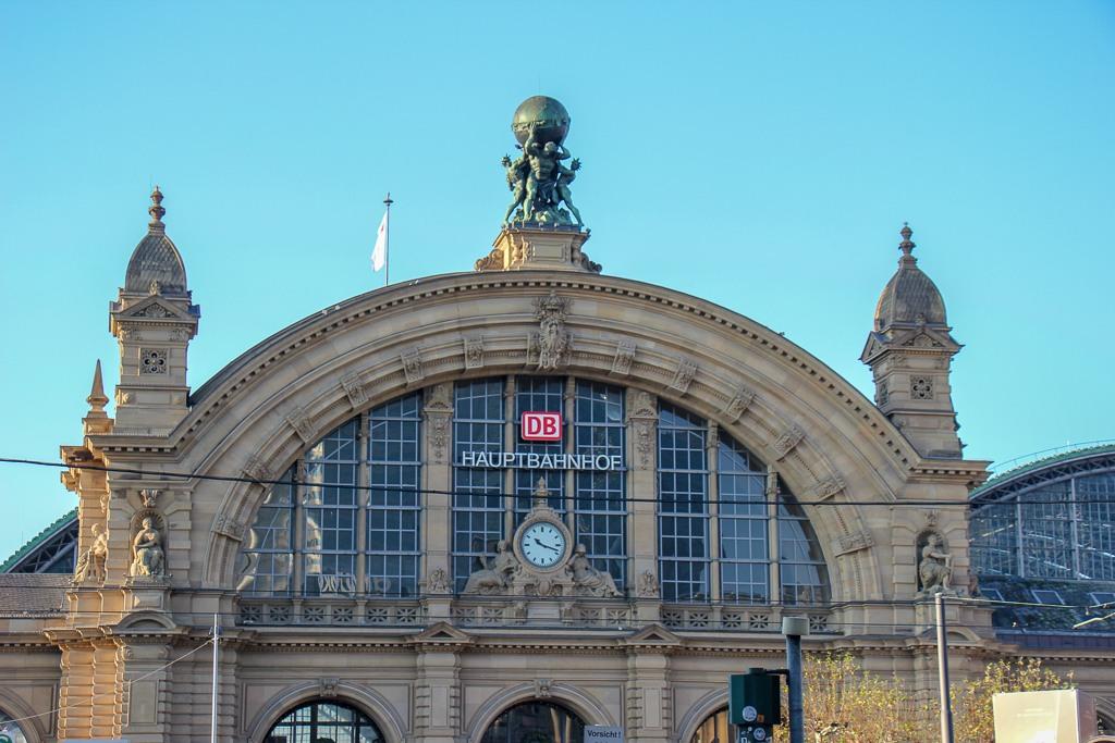 The Hauptbahnhof main train station in Frankfurt, Germany