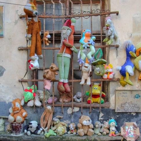 Yard of Lost Toys in Lviv, Ukraine