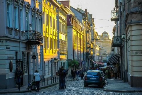 Old Town architecture in Lviv, Ukraine