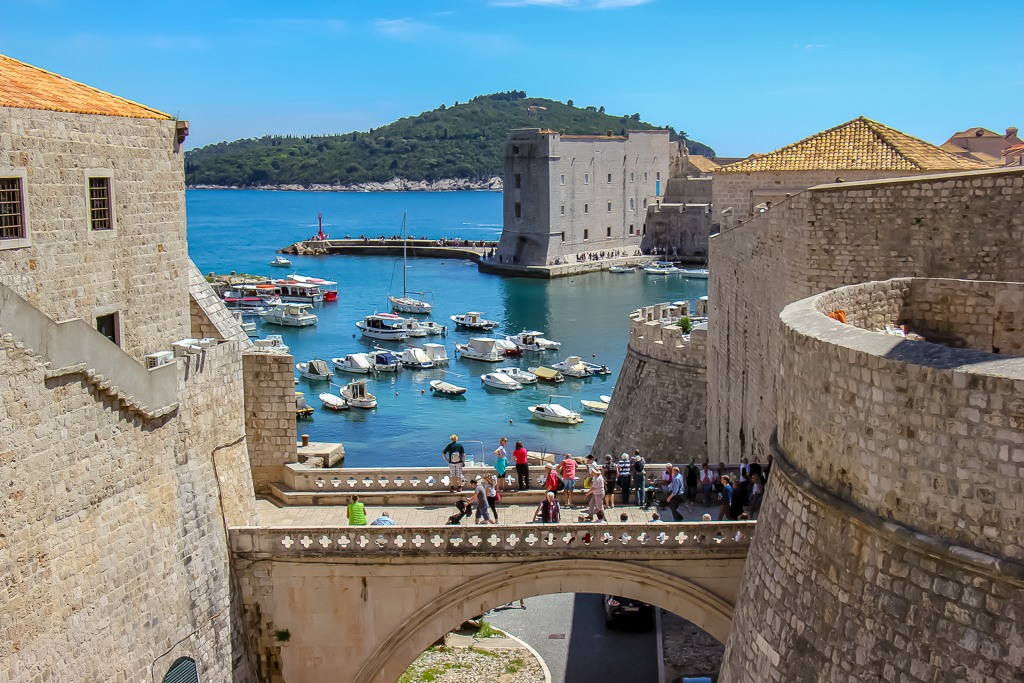Ploce Gate, Old Town Dubrovnik, Croatia