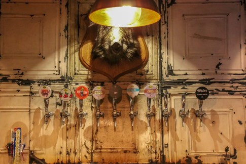 Bar and Taps at The Frog & Underground in Paris, France