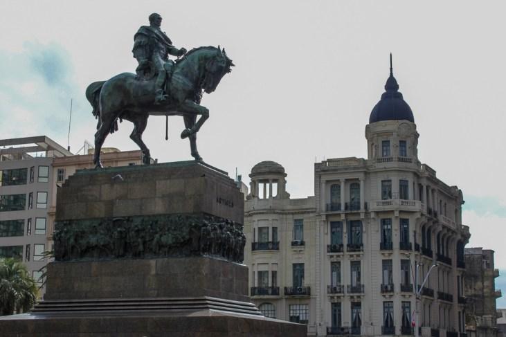 Equestrian Statue of Jose Artigas in Montevideo, Uruguay