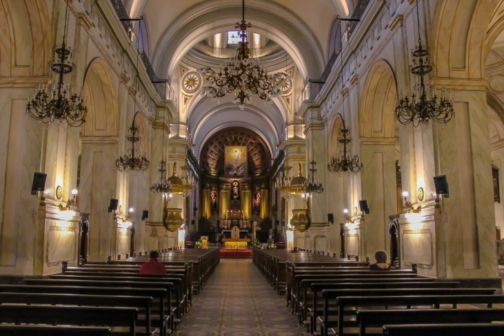 Altar at Montevideo Metropolitan Cathedral in Montevideo, Uruguay