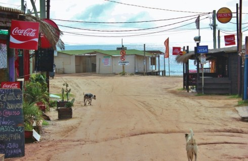 Dusty street in Punta del Diablo, Uruguay