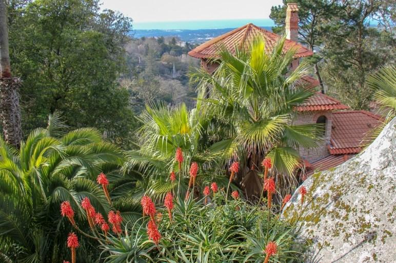 Gardens at Vila Sassetti in Sintra, Portugal