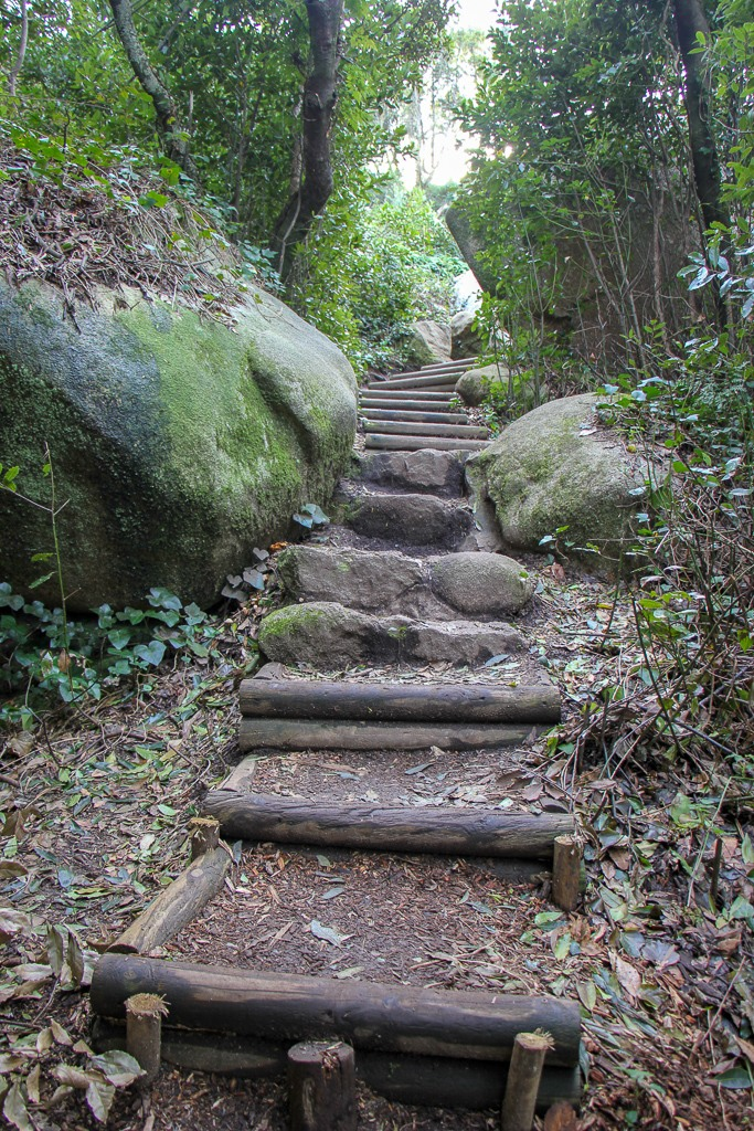 Stairs on the Pedestrian path in Sintra, Portugal