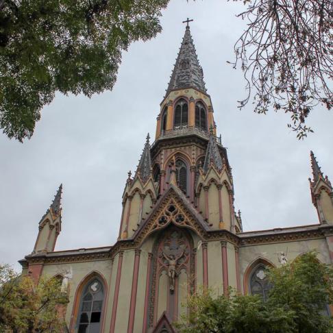 Church steeple in Santiago, Chile