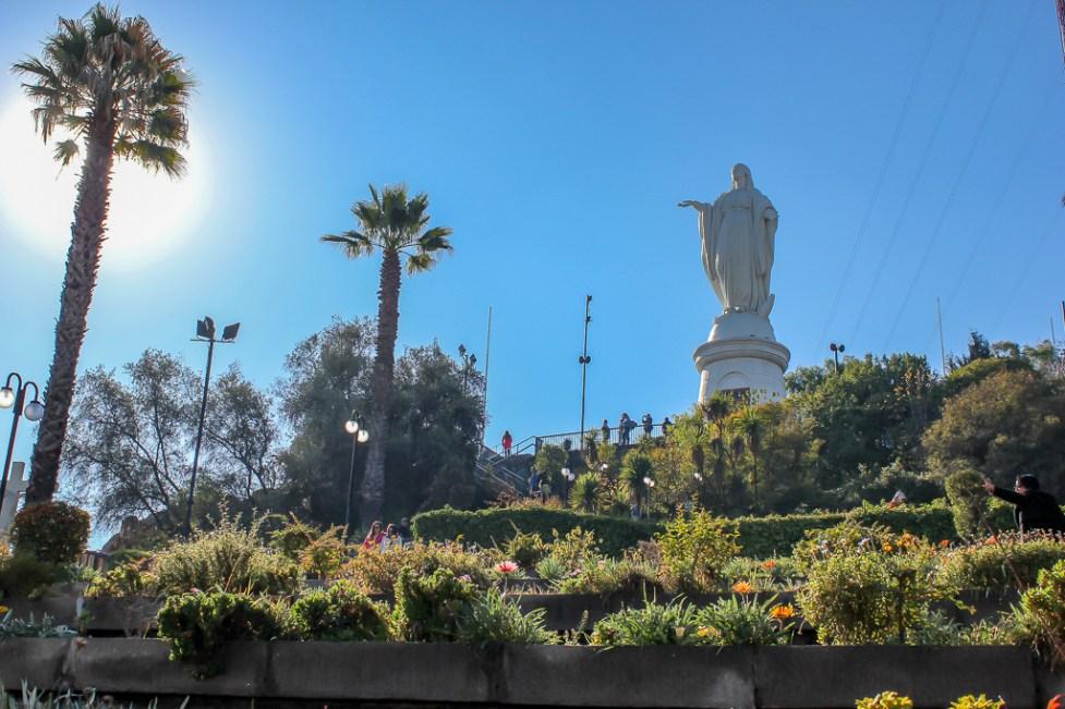 Virgin Mary Statue on Cerro San Cristobal in Santiago, Chile