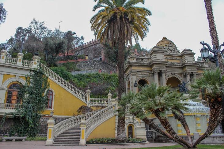 Plaza Neptuno at Cerro Santa Lucia in Santiago, Chile