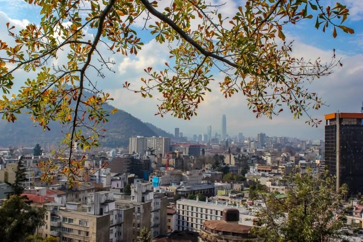 City views from Cerro Santa Lucia in Santiago, Chile