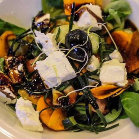 Fresh seasonal salad starter for lunch aboard Almissa ship on Sail Croatia Explorer Cruise