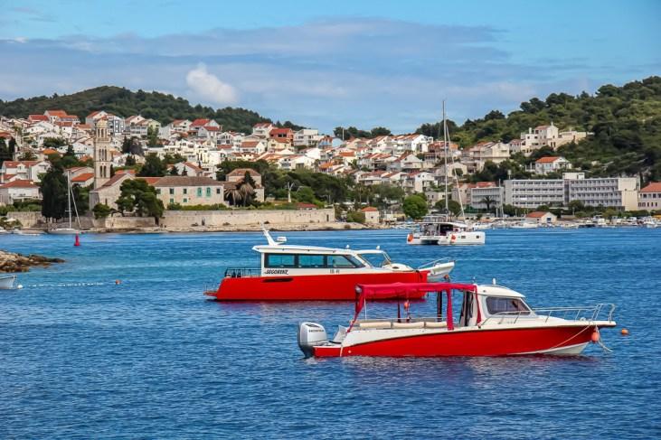 View of Hvar Town on Hvar Island, Croatia