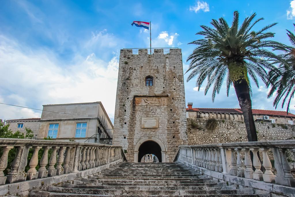 Korcula Town Gate on Korcula Island, Croatia